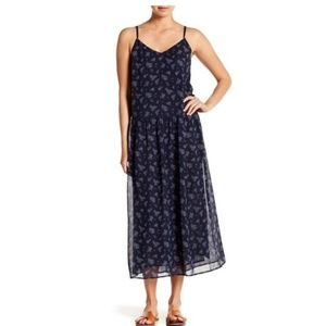 Vince blue floral maxi dress.